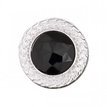 TAS10 - Koltuk Taşı Metalize Düğme Siyah